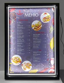 Доски меню для ресторанов, лайтбоксы
